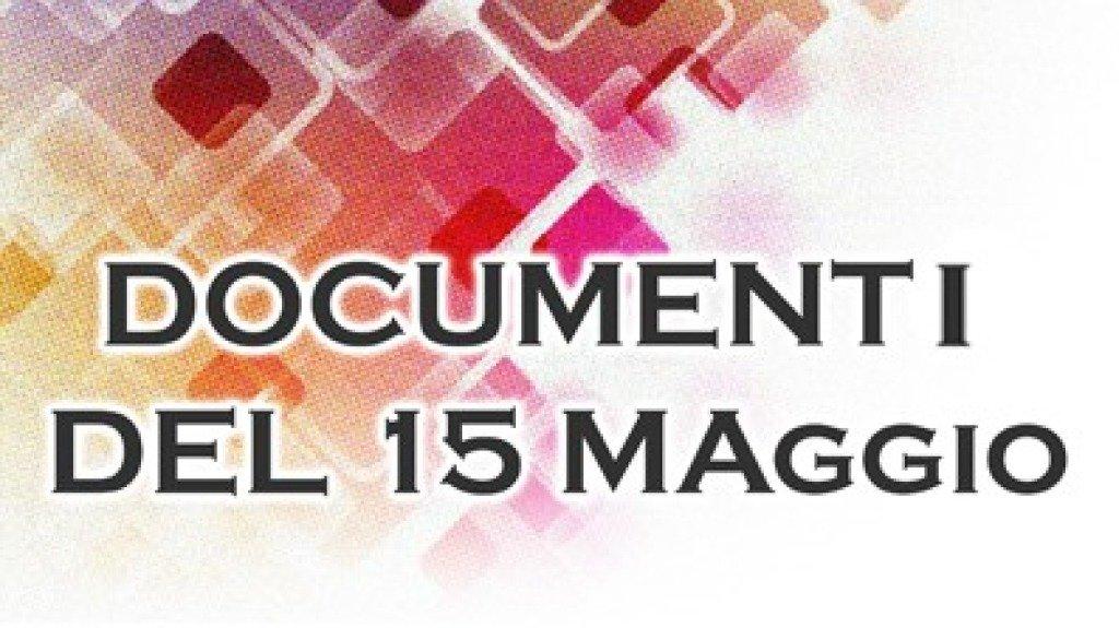 Documenti del15 Maggio